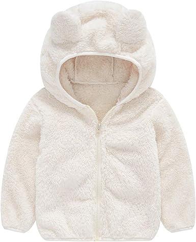 Newborn Kids Baby Girl Boy Cute Ear Zipper Thick Hooded Coat Warm Outwear Jacket