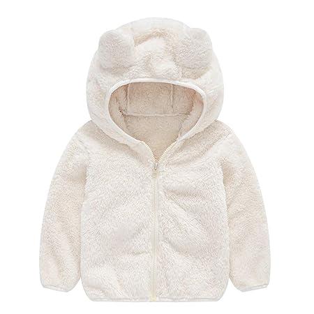 Goldweather Toddler Baby Kids Boy Girl Fleece Lined Warm Winter Jackets Coat Cartoon Bear Hooded Thicken Windproof Outerwear Overcoat Blue,2-3 Years