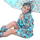 owl rain gear - M2C Girls Cartoon Print Waterproof Hooded Raincoat