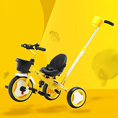 Xiaoping Tricycle pour enfants, bicyclette, chariot (Color : Yellow)