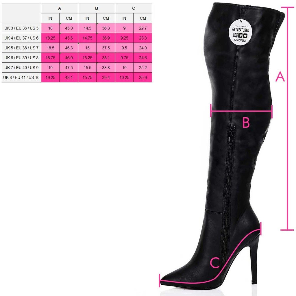 56245108a1ec Spylovebuy HIGH Heel Stiletto Over Knee Tall Boots Black Suede Style SZ 5   Amazon.co.uk  Shoes   Bags