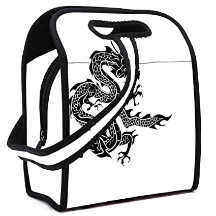 Amazon com: Japanese Dragon Printing Neoprene Lunch Bag, Cultural