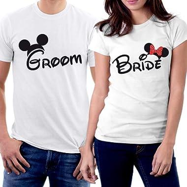 picontshirt Groom & Bride MM Couple T-Shirts