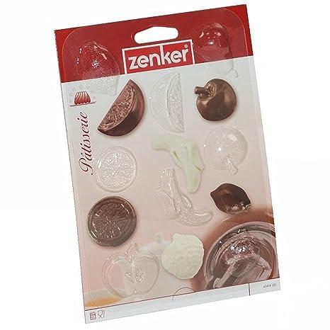 Fackelmann Zenker plástico fruta forma molde para Chocolate Praline pastelería cortador de barra para horno helado