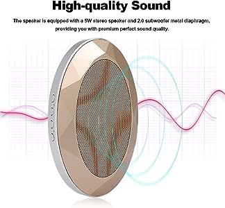 YUANYUAN520 Altavoz Bluetooth Altavoz Bluetooth V4.2 + EDR Altavoces Bluetooth Estilo Subwoofer Estéreo Caja De Sonido Caja De Sonido Soporte Tarjeta TF Aux In, Oro: Amazon.es: Electrónica