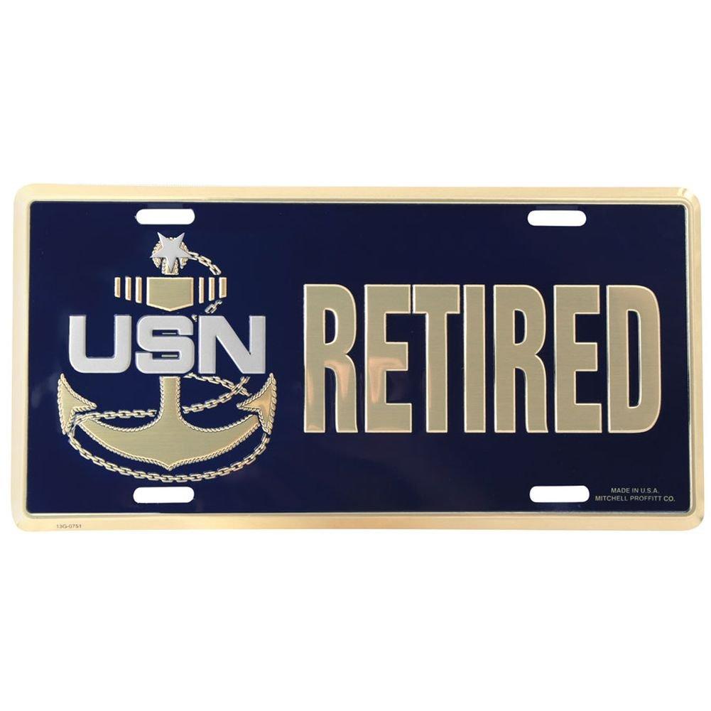 Navy Retired Senior Chief Petty Officer License Plate Mitchell Proffitt LN62 U.S