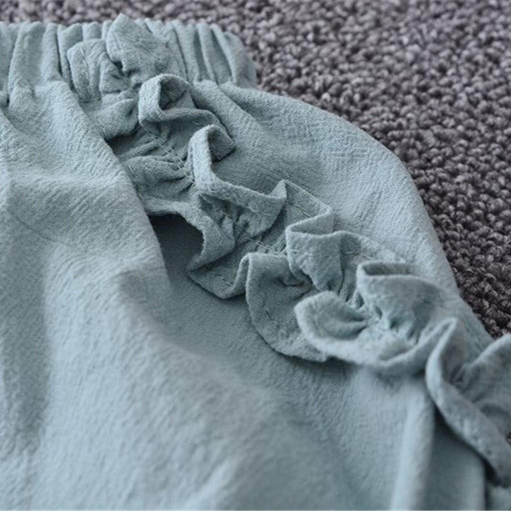 Allence Bekleidung 2 St/ück Kleinkind Baby T-Shirt+Shorts Kurze Hosen Kind M/ädchen Outfits Kleider Blumen Weste Sommerkleidung Chiffon Strampler Spielanzug