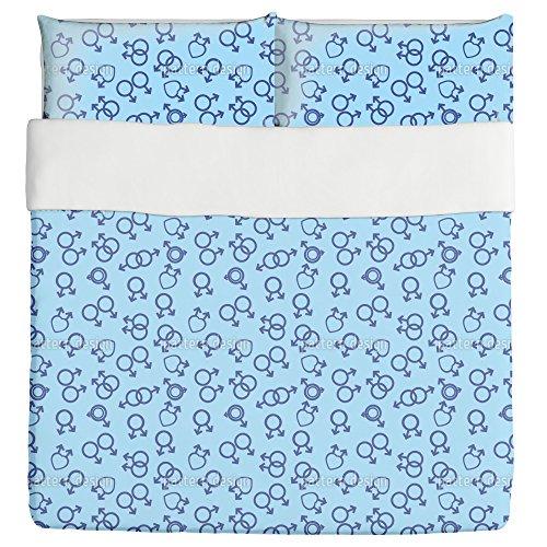 Unusual Love Duvet Bed Set 3 Piece Set Duvet Cover - 2 Pillow Shams - Luxury Microfiber, Soft, Breathable by uneekee