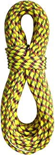 product image for BlueWater Ropes 9.7mm Lightning Pro Double Dry Dynamic Single Rope (Yellow/Slate, 70M)
