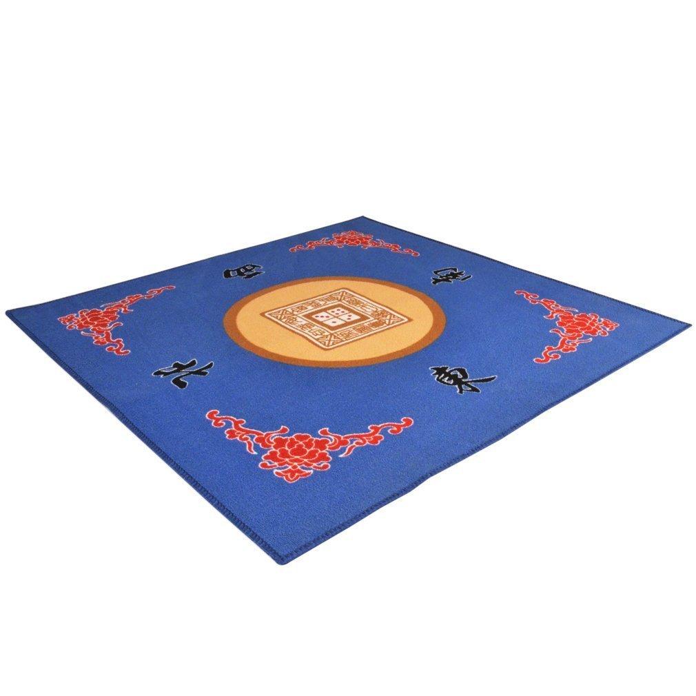 Universal Mahjong / Paigow / Card / Game Table Cover - Blue Mat 31.5'' x 31.5'' (80cm x 80cm)