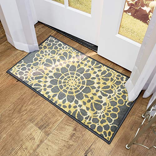 Maxy Home Adaline Medallion Soft Cut Pile Non Slip 18