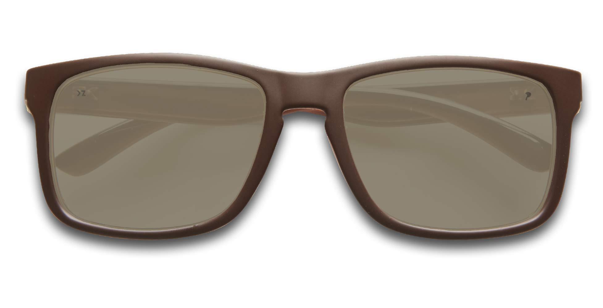8206ac92ff4fa KZ Gear - FLOATING SUNGLASSES - Medium Frame - Classic Modern Shaped -  Polarized UV400 Lenses