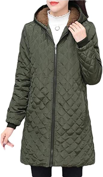 Suncolor8 Mens Hoodie Thicker Warm Winter Camo Print Down Quilted Jacket Coat Parka