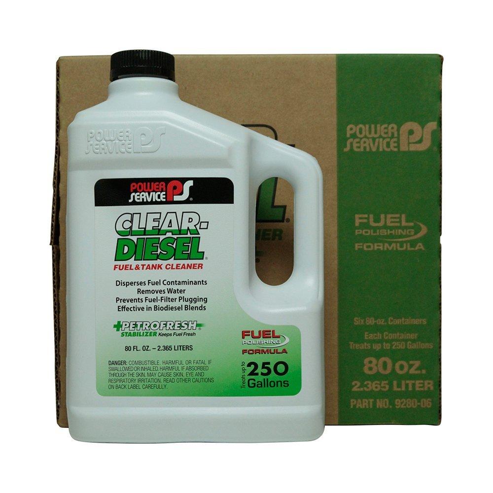 Power Service Clear Diesel - 6/80oz. Bottles