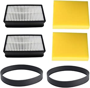 Electropan Replacement Bissell Vacuum Belt 2 Pack fits Bissell Style 7,9,10,12,14,16 and 2 Pack Bissell Filter Kits Replaces Bissell Part # 1008, Fit for Bissell CleanView Series Vacuum