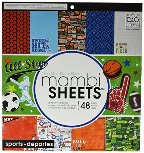 me & my BIG ideas mambiSHEETS Paper Pad, Sports