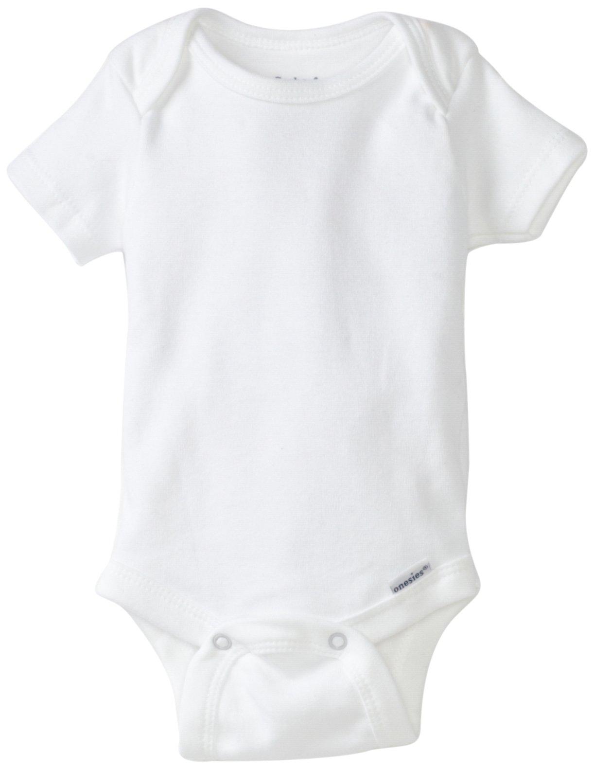 Gerber Brand 4 Pack Organic Bodysuits Brand, White, 0-3 Months