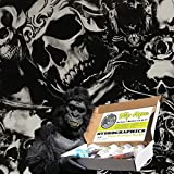 Dip Ape Rose to Death Skulls Hydrographics Water Transfer Hydro Dip Dipping Kit