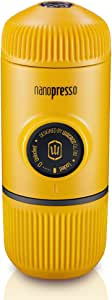 Wacaco Nanopresso Portable Espresso Maker, Upgrade Version of Minipresso, 18 Bar Pressure, Yellow Patrol Edition, Extra Small Travel Coffee Maker, Manually Operated. Perfect for Tiny Kitchen and Office use