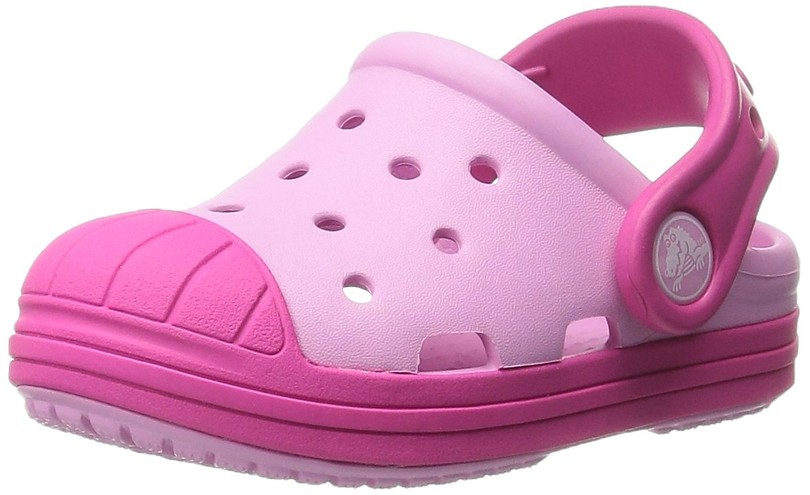 crocs Kids' Bump It Clog (Toddler/Little Kid/Big Kid), Carnation/Candy Pink, 13 M US Little Kid