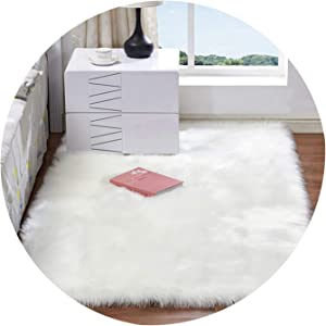Artificial Skin Long Faux Fur Wool Fluffy Carpets for Living Room Plush Chair Seat Cover Area Rug Bedroom Carpet Mat Home Decor,2,100x200CM