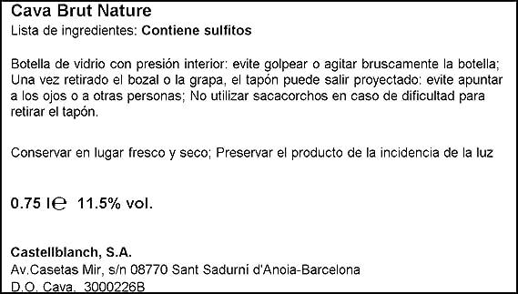 Conde De Caralt - Cava Brut Nature - Botella 75 cl: Amazon.es: Alimentación y bebidas