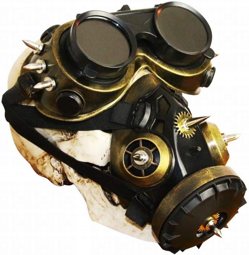 Hemotrade Conjunto de protección contra el Polvo, químico, químico, Anti-Polvo, Gafas Protectoras, máscara de Gas Biohazard Steampunk