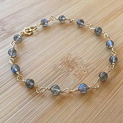 Labradorit Armband, 14 K filledfilled gefüllt Armband, Rosenkranz Stil Gold  filledfilled Armband, Labradorit Schmuck, Labradorit Gold filledfilled, ... 5f7fd81927