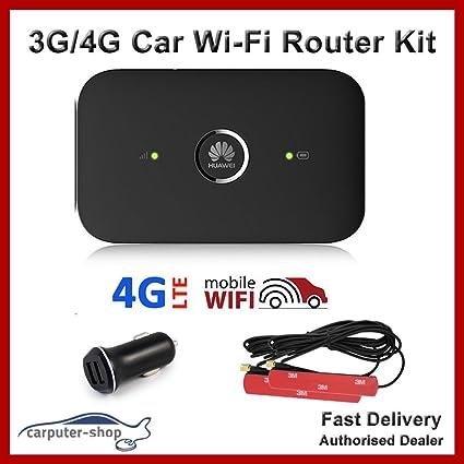 Coche Wi-Fi 3 G/4G Router Kit – Huawei E5573 MIMO, 2 x 3 dBi ...