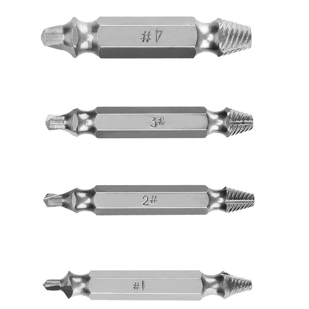 Wuudi cass/é Extracteur de vis /à t/ête double coulissante dent Vis endommag/ées retirer Outil industriel doutil Extracteur de vis pour vis Cass/ée T/ête