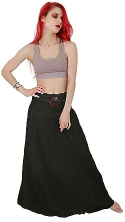 eba761edad7 Billy s Thai Shop Cotton Maxi Skirt Boho Hippie Elastic Waist Skirt For  Women