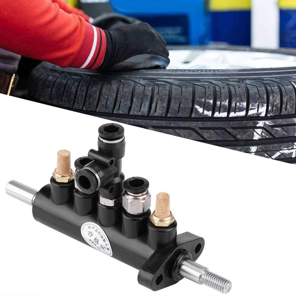 2 Cuque Type A Air Control Valve Pneumatic Pedal Valve Foot Valve for Ranger Tire Changer Supply Tool 9010E 9010A 9024E 9024A Aluminum Black and Silver A