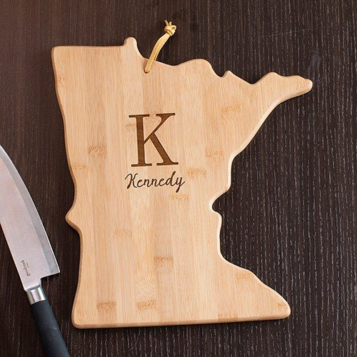 Personalized Family Initial Minnesota State Cutting Board, 12