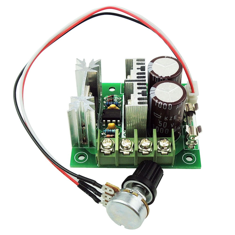 uniquegoods 12v 24v 36v 10A PWM DC Motor Speed Controller Adjustable Driver CCMHCW Variable Speed Switch