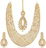 Sukkhi Gold Plated Australian Diamond Choker Necklace With D
