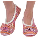 Snoozies Womens Metallic Pin Dot Couture Footcoverings
