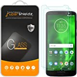 (2 Pack) Supershieldz for Motorola Moto G6 Tempered Glass Screen Protector, Anti Scratch, Bubble Free