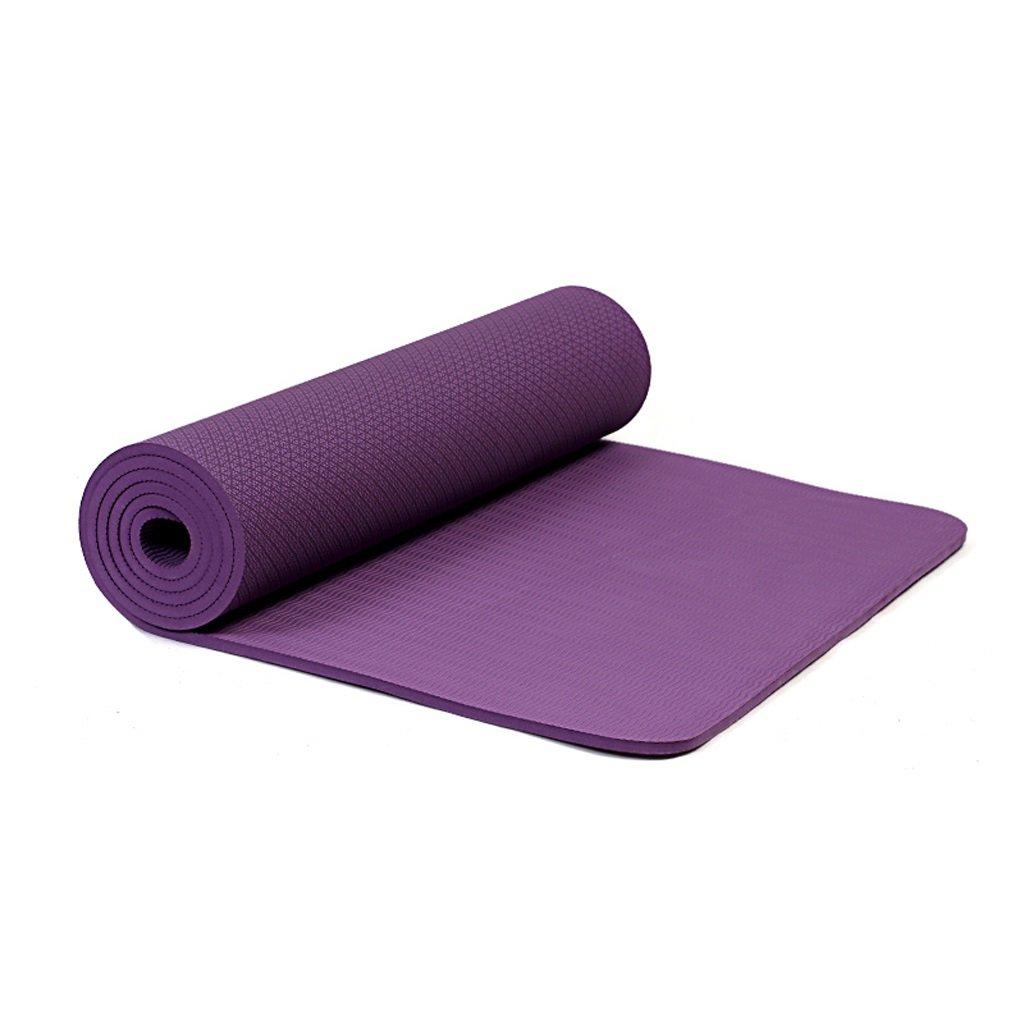 AILI Fitness-Yoga-Matten, Männer und Frauen innen Flache Unterstützung 8mm Anti-Rutsch-Trainingsmatten, Slim-Matten