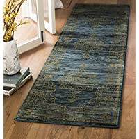 Safavieh Serenity Collection SER210C Turquoise and Gold Runner (23 x 8)