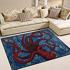 61B53L9FqyL._SS300_ 50+ Octopus Rugs and Octopus Area Rugs