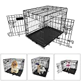 iMounTEK 【XS 18 INCH】 Folding Metal Pet Dog Puppy Cat Cage Crate Kennel W/Tray. 1 Door Wire Cage for Training, Removable & Washable Pan Tray [Rust Resistant] Quick Assembly! Review