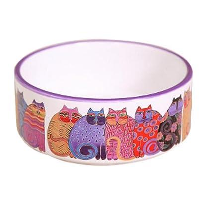 Gatitos de porcelana Imprimir Mascotas Tazones Perros Gatos Tazones Suministros para mascotas Accesorios para gatos