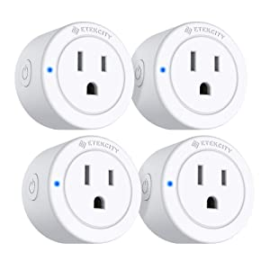 VeSync Mini Smart Plug by Etekcity, Compatible with Alexa, Google Home & IFTTT, Timer Schedule Away Functions, No Energy Monitoring, Group Control Supported, No Hub Required, ETL Listed(4 Pack)