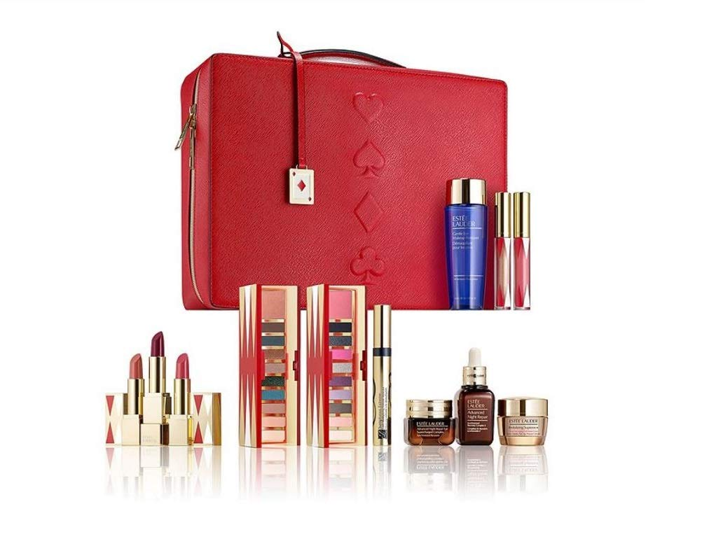 ESTEE LAUDER LIMITED EDITION 31 BEAUTY ESSENTIALS MAKE UP AND SKINCARE SET- NUDES AND GLAM COOL