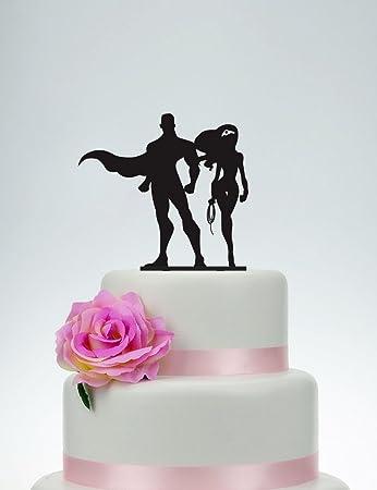 Wedding Cake Topper,Wonder Girl And Super Man Cake Topper,Custom ...
