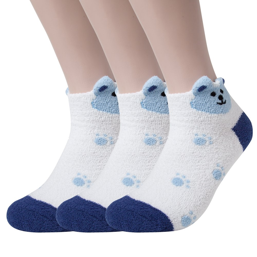 Womens Winter Soft Warm Thermal Fuzzy Socks Bed Sleeping Sock