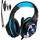Gaming Headset for PS4|Tezewa Xbox One Gaming Headset|PC Gaming Headset|Stereo PS4 Headphones with Mic|LED Gaming Headphones With Microphone for Xbox One PSP Netendo DS PC Tablet iPhone8 X iPad