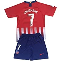 Anelia-Jerseys Griezmann #7 Atletico Madrid 2018-2019 Youths Home Jersey & Shorts