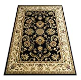 Traditional Area Rug Design Elegance 220 Black (8 Feet x 10 Feet 6 Inch)