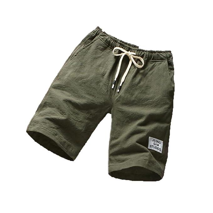 478946a0caf4 BYSTE Shorts da Uomo,Pantaloncini Cargo con Tasche, Estate Bermuda da Uomo  in Cotone Elastica Pantaloncini Sportivi per Spiaggia Outdoor Sport Palestra  ...